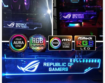Custom light RGB GPU backplate graphics card decoration board | Etsy