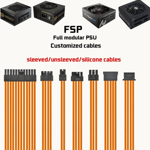 customized psu cables for FSP dagger pro hydro ge itx psu replacement cables