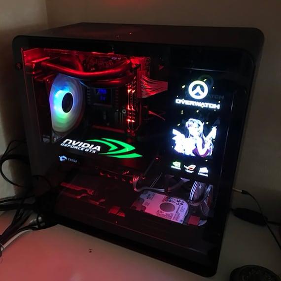 custom light RGB GPU backplate graphics card decoration board watercooling  pc build DIY