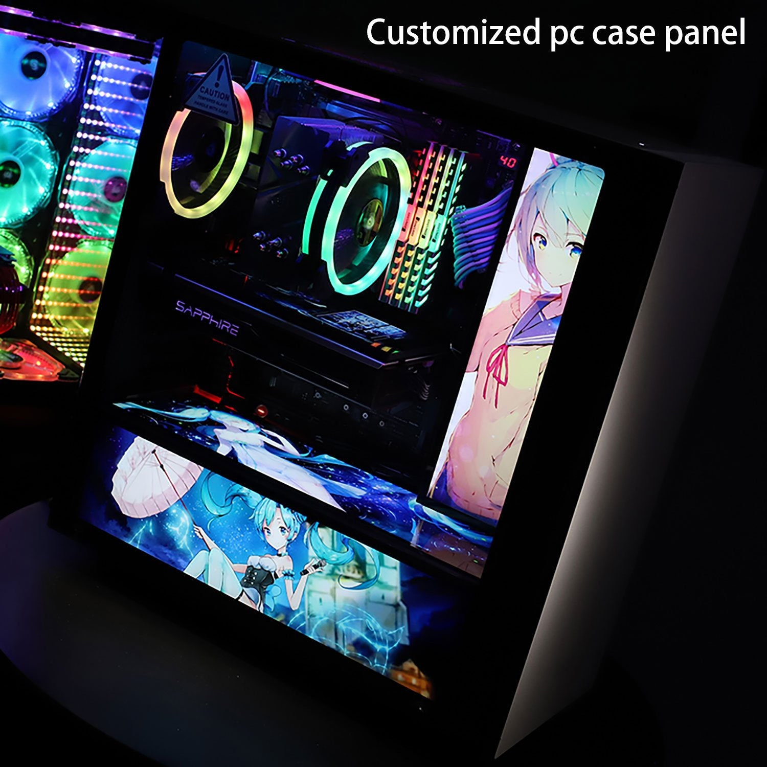 custom rgb pc case light decoration board panel water cooling pc decor computer chassis board PSU case colorful panel