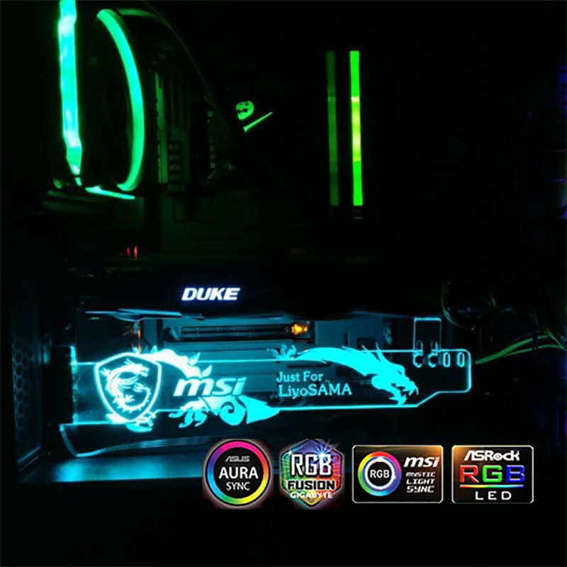 RGB Msi Dragon Led Board Graphics Card Holder Asus Aura MSI sync Pc Case  Decoration Remote Control nvidia gefoce gtx 1050ti 1060 1070ti 1080
