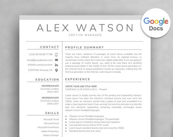 Google Docs Resume Template