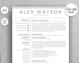 Resume Template Google Docs 10x Google Doc Resume Templates