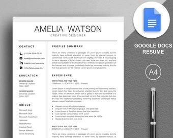 google docs resume instant download google resume template google docs cv