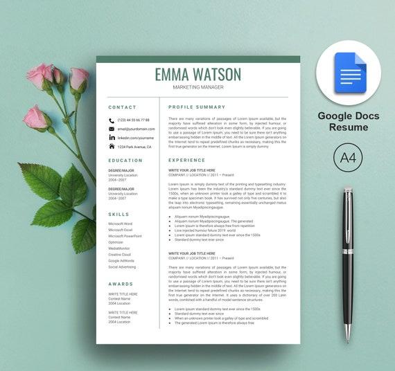 Lebenslauf Vorlage Google Docs Google Docs Lebenslauf Vorlage Google Docs Cv Instant Download Einfache Google Docs Lebenslauf