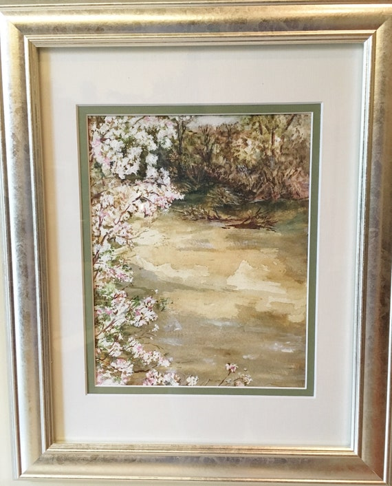 Pour Out a Blessing, Watercolor of flooded American River in California