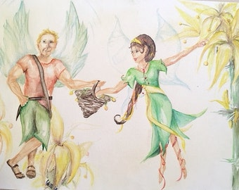 Queen's guard, Fairy watercolor