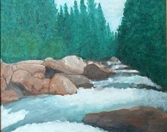 A Rushing Mountain Stream