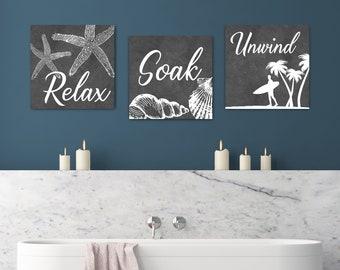beach bathroom decor etsy rh etsy com seaside bathroom decor beachy bathroom decorating ideas