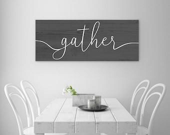 Gather Printable - Dark Gray Wood Texture