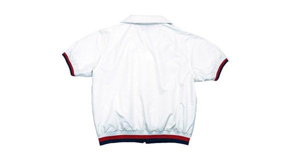 FILA - White Zip-Up T-Shirt 1990's Large - image 2