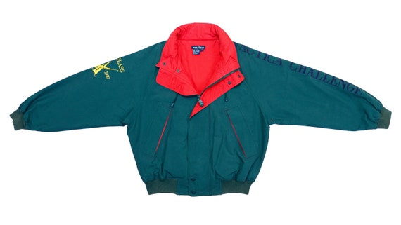 Nautica - Green with Red Big Spell-Out 'Nautica Ch
