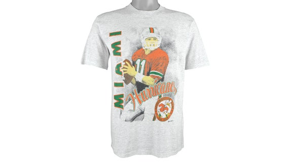 NCAA (Jerzees) - Miami 'Hurricanes' Deadstock T-Sh