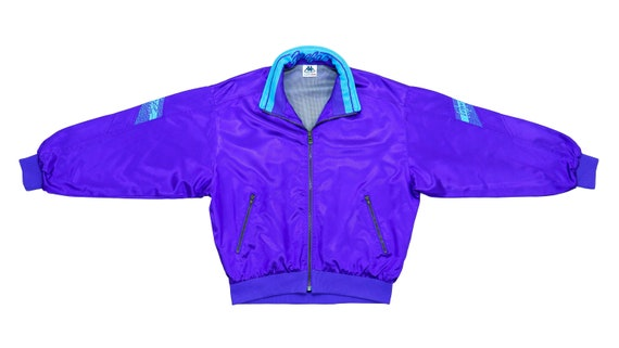 Kappa - Light Blue Bomber Jacket 1990's Medium