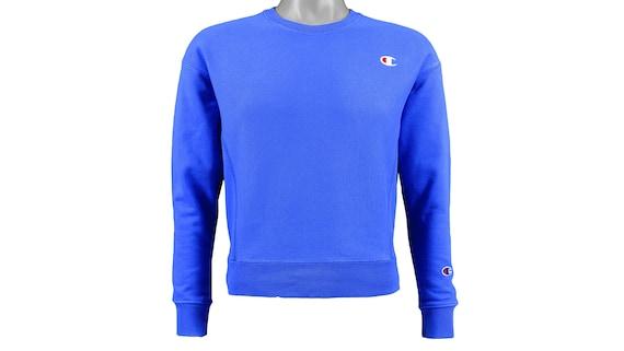 Champion - Blue 'Classic' Sweatshirt 1990's Small