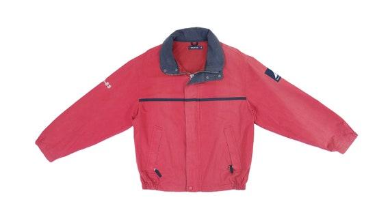 Nautica - Red 'Classic' Jacket 1990's Medium