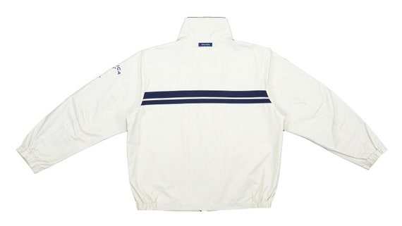 Nautica - Beige with Blue 'Competition' Sailing J… - image 2