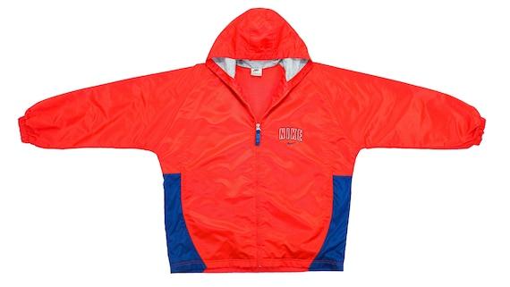 Nike - Red Hooded Windbreaker 1990's Large