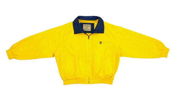 Timberland - Yellow Bomber Jacket 1990's Large