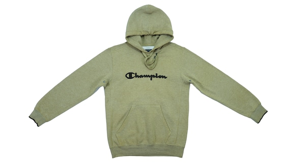 Champion - Green Spell-Out Hoodie Sweatshirt 1990'