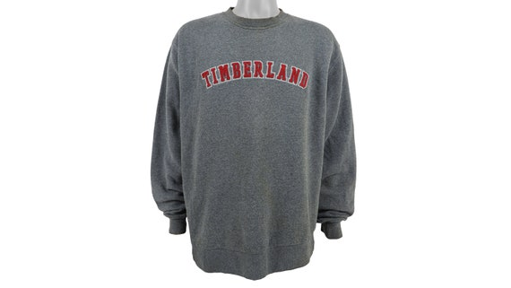 Timberland - Grey Spell-Out Crew Neck Sweatshirt 1