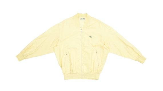 Lacoste - Yellow 'Chemise' Bomber Windbreaker 1990