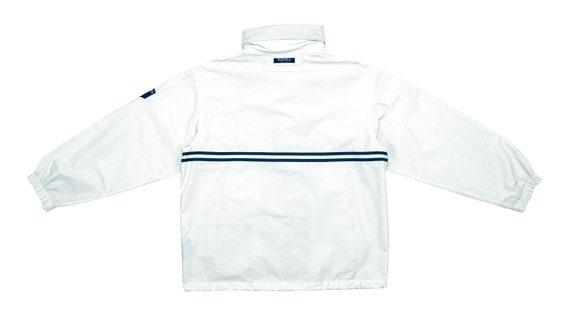 Nautica - White Sailing Jacket 1990's Large - image 2