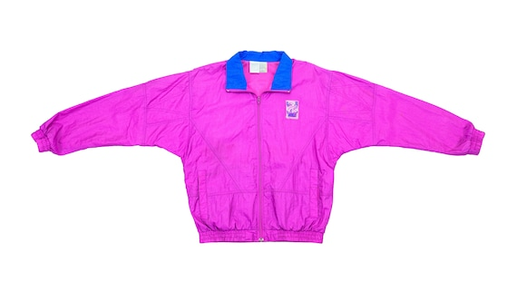 Nike - Pink 'Grey Tag' Windbreaker 1980's Medium