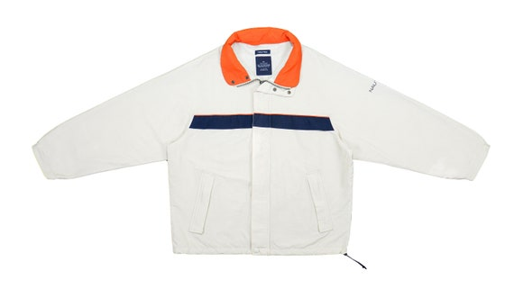 Nautica - Cream Spell-Out Jacket 1990's Large