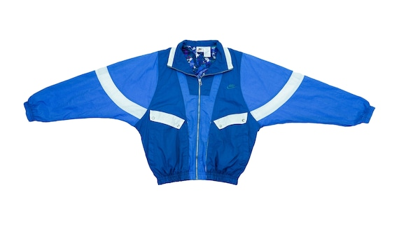 Nike - Blue 'Bomber' Jacket 1990's Medium