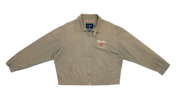 Nautica - Brown Jeans Denim Spell-Out Jacket 1990'