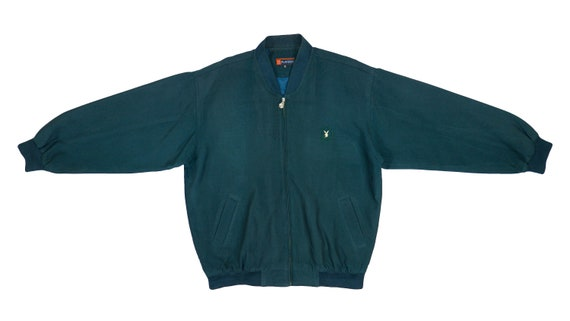 Playboy - Green Bomber Jacket 1990's Large