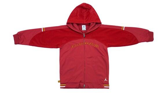 Jordan - Red 'Jumpman' Hooded Warm-up Jacket 1990'
