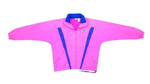 Nike - Pink with Purple Windbreaker 1980's Medium