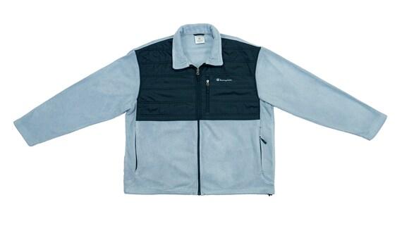 Champion - Grey & Black Fleece Sweatshirt 1990's L