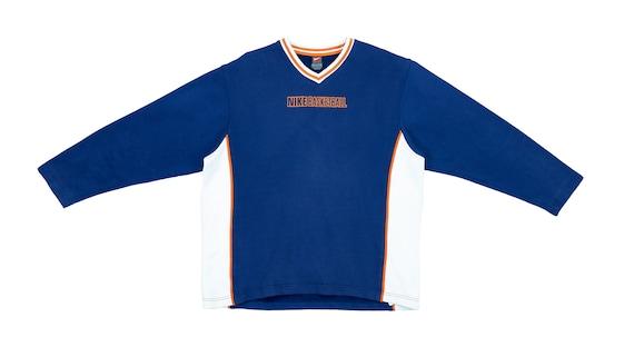 Nike - Blue 'Basketball' Sweatshirt 1990's Large
