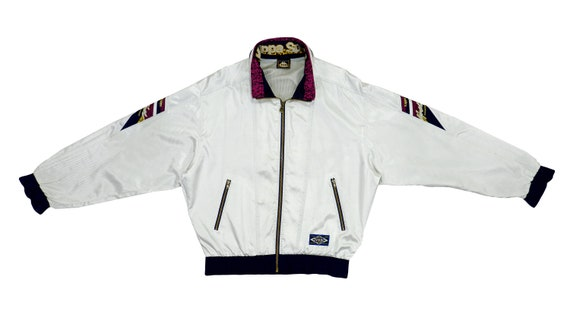 Kappa - White Bomber Jacket 1990's Large