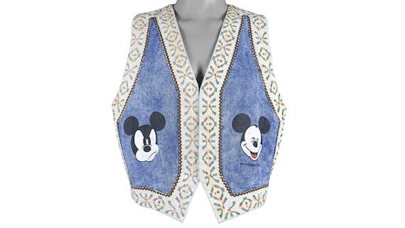 Disney (Poppins) - 'Mickey Mouse' Jeans Vest 1990'