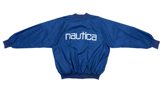 Nautica - Blue 'Spell-out' Jacket 1990's X-Large
