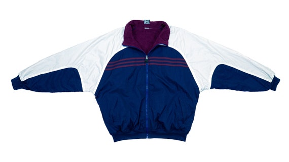 Adidas - Blue and Violet 'Reversible' Fleece Windb