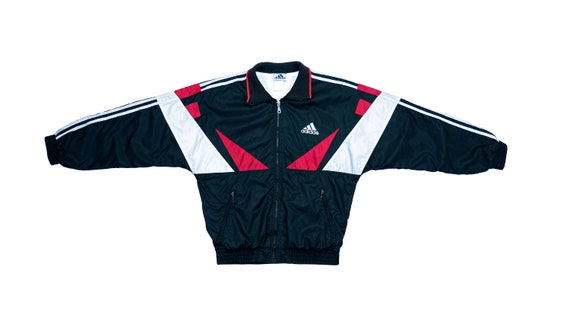 Adidas - Black & White with Red Colorblock Windbre