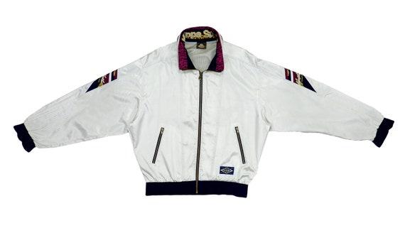 Kappa - White Bomber Jacket 1990's Large