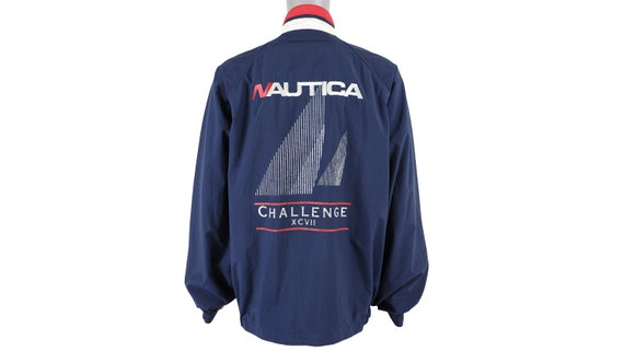 Nautica - Blue 'Challenge' Spell-Out Jacket 1990's