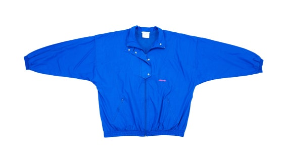 Adidas - Blue Bomber Jacket 1990's X-Large