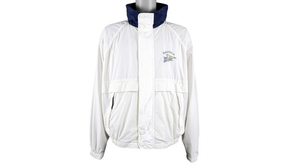 Nautica - White with Blue 'Classic' Jacket 1990's