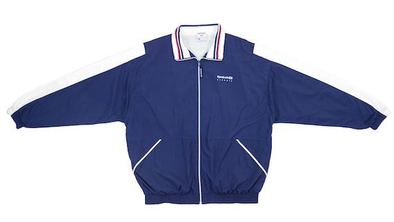 Blue and Purple and White /'Spell-Out/' Windbreaker 1990/'s Large Reebok