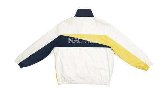 Nautica - Yellow and White Big Spellout Reversible