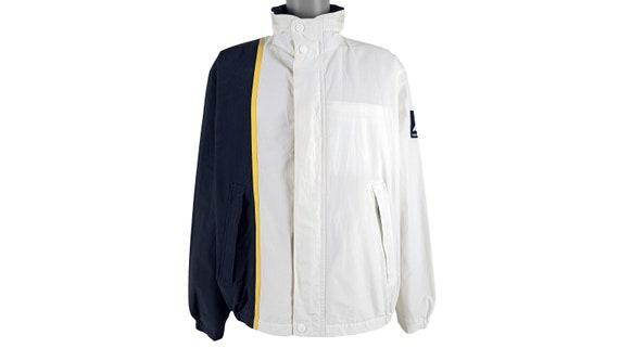 Nautica - White with Black 'Sailing' Jacket 1990's