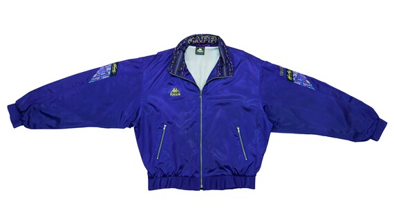 Kappa - Blue Bomber Jacket 1990's Large