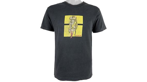 Vintage - Black 'Hook-Ups' Skateboard T-Shirt 1990